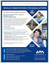 UAH Graduate Credit for Educators Flyer